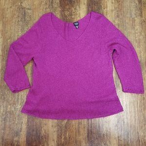 Eileen Fisher Purple Silk Mohair Sweater